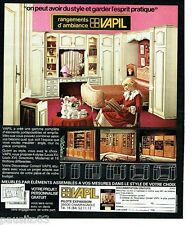 PUBLICITE ADVERTISING 116  1978   Vapil décorateur rangements ameublements meubl