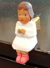Lotte Sievers Hahn,Nativity crib hand carved,Single Sitting Brown Hair Angel