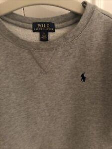 Boys Grey Polo Ralph Lauren Sweater Jumper 5