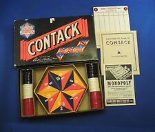 Parker Brothers Contack Domino Board Games Rectangle Box W/ Manual Pad & Pieces