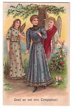Lord's Prayer postcard Lead us not into Temptation A.S.B series 264