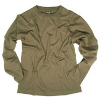 Mens Long Sleeve Military Army Cadet Tactical Cotton Top T-Shirt Tee Olive Green