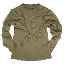Mens Long Sleeve Military Army Tactical Cotton Top T-Shirt Tee Olive Green NEW