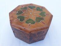 Thuya Wood Moroccan Handmade Brown Red  Small Box Pearl Decorative Design