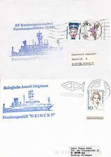 GERMAN SURVEY SHIP FS HEINCKE A SHIPS CACHED COVERS & CACHED CARD