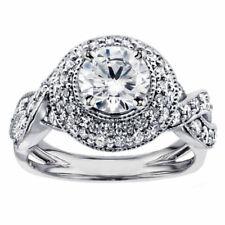 14k White Gold 2.05 Ct Princess Diamond Engagement Ring