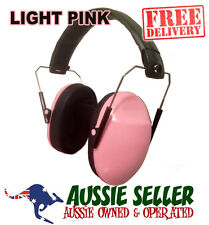 SHOOTING SLIMLINE FOLDING LADIES PROTECTION EARMUFFS - PINK - FREE POSTAGE
