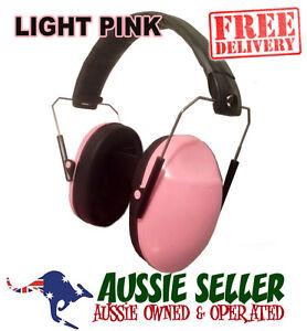 SLIMLINE STANDARD  LADIES GIRLS KIDS PROTECTION EARMUFFS - PINK - FREE POSTAGE!!