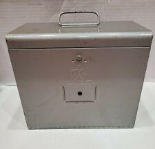Vintage Brumberger Metal Industrial Dark Room Film Storage Cabinet Safe Shelves