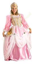 Renaissance Princess Dress 6 Pc Pk & Wht Dress Skirt Vest Headpiece & Purse