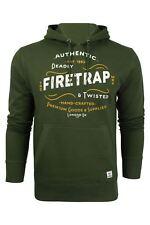 Firetrap Townson Felpa Uomo Verde (rifle Green Cs8) Small (p3k)