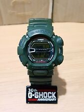 G-Shock  Vintage Mudman Army Military Green Negative World Time Watch