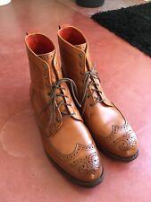 Allen Edmonds Dalton 10,5 E Walnut Tan Cadre Cousu 499 € boots bottes Wingtip