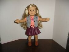 "Retired American Girl 18"" Doll Tenney Grant in With Meet Outfit"