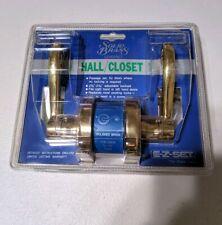 VTG EzSet Solid Brass Hall / Closet Door Lever Handle No-Lock Knob