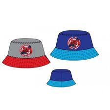 Boys Spiderman Sun Hat Kids Character Summer Bucket Hat Age 2-8 Years New