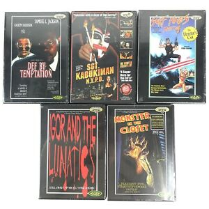 5x NEW TROMA DVDs Sgt Kabukiman, Monster In The Closet, Def By Temptation, Igor