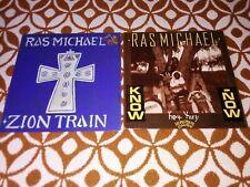 RAS MICHAEL - ZION TRAIN- KNOW NOW- LOTTO 2 LP