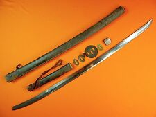 Japanese Japan WWII WW2 Late War Signed Katana Sword w/ Scabbard