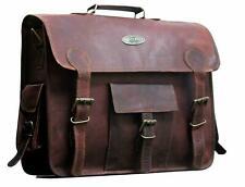 Goat amazing Leather Vintage Brown Messenger Bag Shoulder Laptop Bag Briefcase