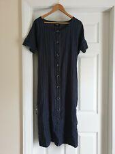 "Dress ""Farhi by Nicole Farhi"" With Pockets With Linen Dark Grey Size: L,14 (UK)"