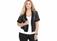 Black Tunic Shrug Cardigan Sweater NEW 1X 18W 2X 3X 20W 22W 24W NYCollection M56