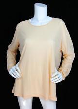 Oska Sz 4 Pale Orange Lightweight Cotton Long Sleeve T-Shirt Tunic Top