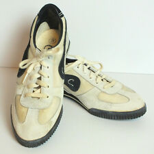 Vintage Candie's White Suede and Cream Fabric Athletic Tennis Shoes, Size 9