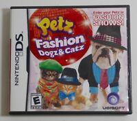 Petz Fashion: Dogz & Catz (Nintendo DS, 2009) COMPLETE