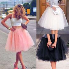 baaa2ee89f Women Adult Layers Tulle Skirt Long Dress Princess Girls Ballet Tutu Dance  Skirt