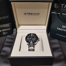 NEW GENUINE TAG HEUER AQUARACER QUARTZ WATCH 43mm BLACK DIAL - WAY101A.BA0746