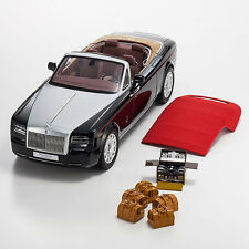 ROLLS ROYCE PHANTOM DROPHEAD SERIES 2 BLACK 1/12 DIECAST BY KYOSHO 08641 DBK