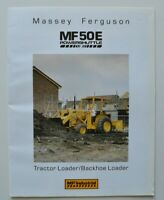 MASSEY FERGUSON MF50E Loader 1987 dealer brochure catalog - English - Canada