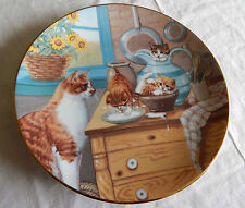 Table Manners Plate Coa Country Kitties