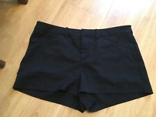 IMMACULATE PAIR LADIES/OLDER GIRLS BLACK HOT PANTS/SHORTS H & M SIZE 40 UK 12