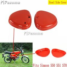 2x Red Vintgae Motorcycle Steel Side Cover Box Intake Lid For Simson S51 S50 S70