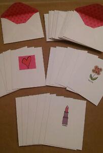 Avon Elissa Bloom Vintage 2003 New Seasons Heart 18 Notecards & 18 Envelopes