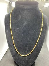 """NIKKEN I-02 Gold Diamond Cut Magnetic Therapy Necklace 20"""" Signed"""
