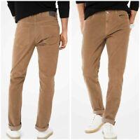 New MICHAEL KORS Pants 40 x 32 Corduroy Slim Fit Men's Parker Cords Brown Fossil