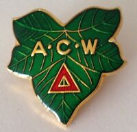 ACW Maple Leaf Pin Badge Rare Vintage (J5)