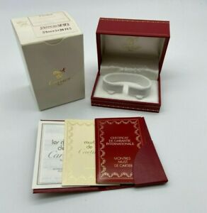Must de Cartier Watch box case 521 Booklet guarantee rare #567