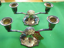 2x vintage Coronet Plate Lead candlestick about NEW