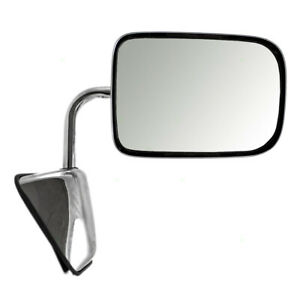Manual Mirror for 88-93 Dodge Ram Truck Ramcharger Passengers Chrome 55074998