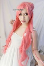 Code Geass Euphemia 100cm long body wavy pink cosplay wig / 2 buns with bangs
