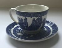Johnson Brothers China Made In England Willow Blue Teacup With Saucer