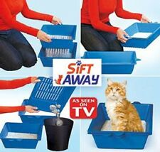 Sift Away Pet Cat Self Sifting Litter Box Toilet 3 Part System Slotted Trays AU