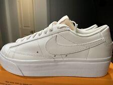 Women's Nike Blazer Low Platform White White Black DJ0292-100 Women'Sz.6.5 NoLid