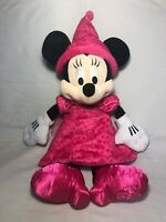 2015 Disney Parks Authentic Original Minnie Mouse Princess Plush Pink With Tags