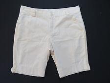 D-109 LADIES Sara Sand BEIGE Fray Edging COTTON shorts PLUS Size 24 BNWT