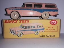 Boxed Dinky Toys Dinky 173 Nash Rambler Station Wagon Pink with Blue Trim Flash